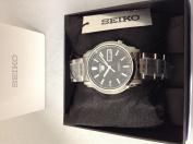 Seiko Snkk71 Mens Stainless Steel Seiko 5 Automatic Black Dial Watch