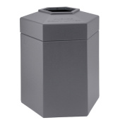 DCI Marketing 737203 170.3l Hex Waste Container - Grey
