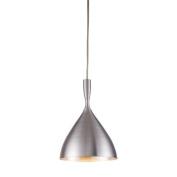 Elk Lights 17042-1ALM Spun Aluminium 1-Light Pendant in Aluminium