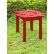 International Concepts T-92248 Adirondack SideTable in Red