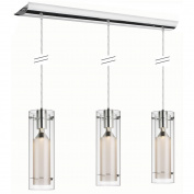 Dainolite 22153-CF-PC 3-Light Pendant-Clear Glass with Frosted Insert