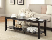 Convenience Concepts 7103082-BL American Heritage Coffee Table with Shelf in Black