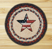 Capitol Importing 80-015AS Americana Star - 10 in. x 10 in. Hand Printed Round Swatch