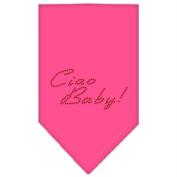 Mirage Pet Products 67-20 SMBPK Ciao Baby Rhinestone Bandana Bright Pink Small