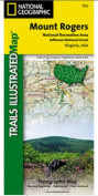 National Geographic TI00000786 Map Of Mount Rogers National Recreation Area - Virginia