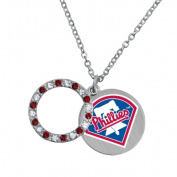 Game Time Group 101623 MLB Philadelphia Phillies Disc Necklace