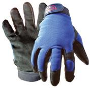 Boss Gloves Large Black & Blue Boss Guard Leather Gloves 890L