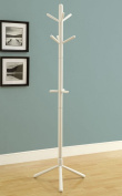 Monarch Specialties COAT RACK - 180cm H / WHITE WOOD CONTEMPORARY STYLE