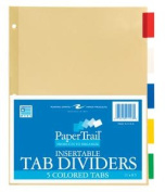 Roaring Spring Paper Products 21123 5 Tab Index Coloured - 5 Sheets Per Polywrap