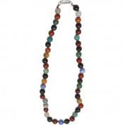 Premium Connection 290-MFAN Bret Roberts Multi Color Flower Agate Necklace