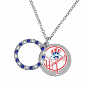 Game Time Group 101617 MLB New York Yankees Disc Necklace