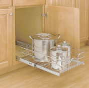 Hardware Distributors RS5WB1.1218.CR 11-.38 in. x 18 in. x 7 in. Pull-out Wire Baskets - Chrome