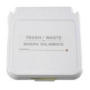 R & B Wire 602TWG 30.5cm . x 10.2cm . Laundry Hamper Lid Label - Trash - Waste - Grey Lettering