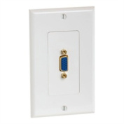 Cmple 999-N VGA 15pin Female Wall Plate - Gold Plated