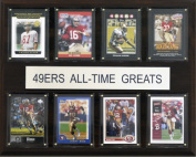 C & I Collectables 1215ATGS49 NFL San Francisco 49ers All-Time Greats Plaque