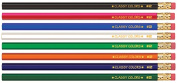 Musgrave Pencil Co Inc MUSDHEX99 Musgrave No 2 Gross Wood Case Hex Pencils Assorted Colours