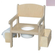 Little Colorado 028SP Handcrafted Potty Chair with Accessories in Soft Pink