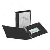 Avery Consumer Products AVE19750 Showcase View Binder- 7.6cm . Capacity- 28cm .x8-.130cm .- Black