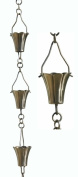 Patina Products 8.5ft. Brushed Stainless Steel Fluted Cup Rain Chain R266