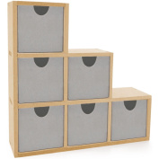 Kaisercraft 461649 Beyond The Page MDF Bookend Drawers-6 Drawers