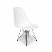 Kirch FD130MWHT Mid-Century Eiffel Dining Chair - White