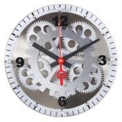 Maples Clock GCLY-11 10 in. Moving Gear Wall Clock - Glass Cover