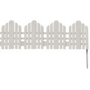 Easy Gardener/weedblock 861 22 in. Long x 6 in. High White Adirondack Landscape Border
