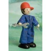 Le Toy Van BK931 New Budkins Bendy Wooden Mechanic Doll
