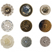 Idea-Ology Accoutrements Buttons .1590cm To 2.5cm 9/Pkg-Fanciful