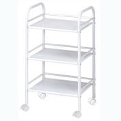 Blue Hills Studio SH3WH 3-Shelf Storage Cart - White