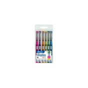 Bazic Products 1713-24 Dayton Fashion Colour Rollerball Pen with Metal Clip - 6-Pack