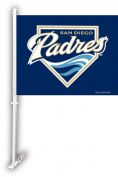Fremont Die 68925 Car Flag W/Wall Brackett - San Diego Padres