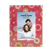 MBI 466655 Brag Book With Frame 36 Pocket 10cm . x 15cm . -Floral Dots