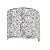 Dainolite V677-1W-PC 1-Light Crystal Wall Sconce - Polished Chrome