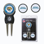Team Golf NFL Jacksonville Jaguars Divot Tool Pack With 3 Golf Ball Markers