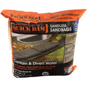 Quick Dam 30cm x 60cm Sandless Sandbags, 6-Pack