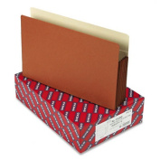 Smead 74274 5 1/4 Expansion File Pockets with Tyvek Straight MLA/Red Legal Redrope