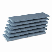 Tennsco 6Q23612MGY Industrial Steel Shelving for 87 High Posts 36w x12d Medium Gray 6/carton