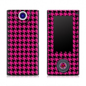 DecalGirl SBHD-HTOOTH-PNK Sony Bloggie HD Skin - Pink Houndstooth