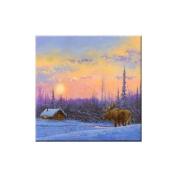 McGowan TT70026 Tuftop Van Zyle Moose and Cabin Trivet