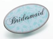 Lillian Rose JL620 BM Aqua Oval Bridesmaid Pin