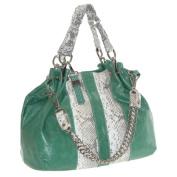 Buxton FDL11020.GR.BX Jasmine Collection Leather Satchel - Green