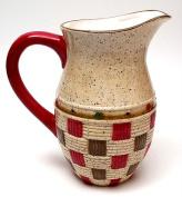 IWDSC 049-28760 Porcelain Apple Basket Water Pitcher