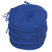 Greendale Home Fashions OC6816S4-MARINE 15 in. Round Outdoor Bistro Chair Cushion Set of Four Marine Blue