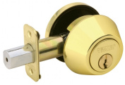 Schlage Bright Brass Single Cylinder Deadbolts JD60V605