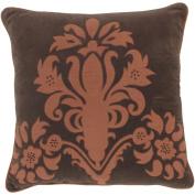 Surya P0035-1818P Poly-Filler Decorative Pillow - Brown-Rust