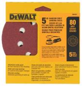 Dewalt Accessories 12.7cm . 80 Grit Random Orbit Sanding Discs DW4301
