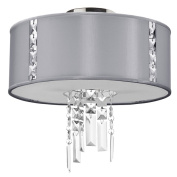 Dainolite RTA-12SF-PC-834 2 Light Crystal Semi Flush with 790 Diffuser - Polished Chrome