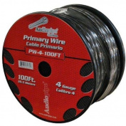 AudioPipe PW4100BLK 100 ft. Roll 4 Gauge Power Wire - Black