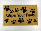 Kempf Wipe Your Paws Coco Doormat, Rubber Backed, 18 by 80cm by 1.3cm